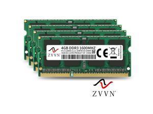 ZVVN 16GB Kit (4x 4GB) 204-Pin DDR3 SO-DIMM DDR3 1600 (PC3 12800) Laptop Notebook Memory Model 3S4E16C11ZV04