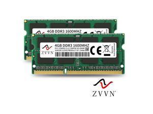 ZVVN 8GB Kit (2x 4GB) 204-Pin DDR3 SO-DIMM DDR3 1600 (PC3 12800) Laptop Notebook Memory Model 3S4E16C11ZV02