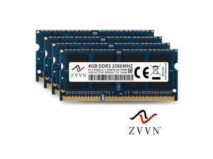 ZVVN 16GB Kit (4x 4GB) 204-Pin DDR3 1066 (PC3 8500) SO-DIMM RAM 1.5V Laptop Notebook Memory Model 3S4L10C7ZV04