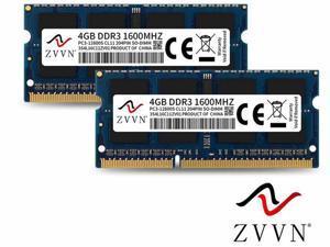 ZVVN 8GB Kit (2x 4GB) 204-Pin DDR3 1600 (PC3 12800) SO-DIMM RAM 1.5V Laptop Notebook Memory Model 3S4L16C11ZV02