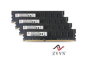 ZVVN 32GB Kit (4x 8GB) DDR3 1333 (PC3 10600) 1.5V PC RAM Desktop Computer Memory 240Pin Black Model 3U8H13C9ZV04