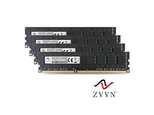 ZVVN 32GB Kit (4x 8GB) DDR3 1600 (PC3 12800) 1.5V PC RAM Desktop Computer Memory 240Pin Black Model 3U8H16C11ZV04