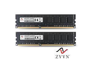 ZVVN 16GB Kit (2x 8GB) DDR3 1600 (PC3 12800) 1.5V PC RAM Desktop Computer Memory 240Pin Black Model 3U8H16C11ZV02