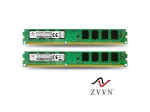 ZVVN 16GB Kit (2x 8GB) DDR3 1866 (PC3 14900) CL10 Desktop DIMM RAM 1.5V Computer Memory Narrow Model 3U8E18C10ZV02-X