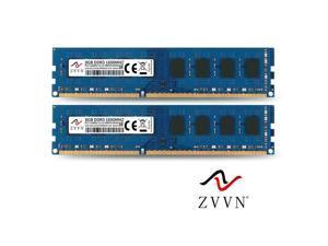 ZVVN 16GB Kit (2x 8GB) DDR3 1600 (PC3 12800) 1.5V DIMM PC RAM CL11 Computer Desktop Memory Blue Model 3U8L16C11ZV02