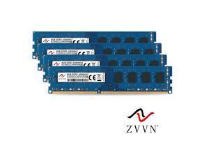 ZVVN 32GB Kit (4x 8GB) DDR3 1066 (PC3 8500) 240Pin PC DIMM RAM Computer Desktop Memory Blue Model 3U8L10C7ZV04