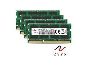 ZVVN 16GB Kit (4x 4GB) 204-Pin DDR3L SO-DIMM DDR3L 1333 (PC3L 10600) 1.35V Laptop Notebook Memory Model 3S4E13C9ZV04-L