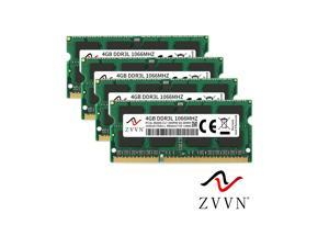 ZVVN 16GB Kit (4x 4GB) 204-Pin DDR3L SO-DIMM DDR3L 1066 (PC3L 8500) 1.35V Laptop Notebook Memory Model 3S4E10C7ZV04-L