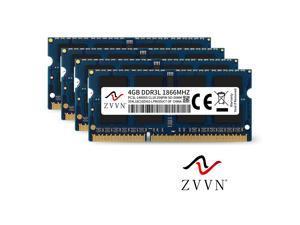 ZVVN 16GB Kit (4x 4GB) 204-Pin DDR3L 1866 (PC3L 14900) SO-DIMM RAM Laptop Notebook Memory 1.35V Model 3S4L18C10ZV04-L