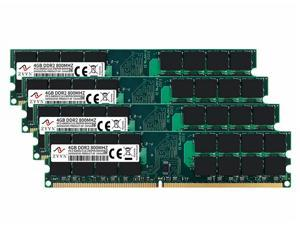 ZVVN 16GB Kit (4x 4GB) 240-Pin DDR2 DIMM DDR2 800 (PC2 6400 ) Desktop Computer Memory RAM Model