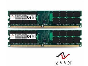 ZVVN 8GB Kit (2x 4GB) 240-Pin DDR2 DIMM DDR2 800 (PC2 6400) Desktop Computer Memory RAM Model