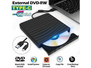 External DVD RW CD Writer Drive USB 3.0 Slim Burner Reader Player for Laptop PC ZVVN