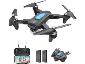 DEERC D10 Drone with Camera for Adults and Kids, 1080P HD FPV Live Video, RC Quadcopter Helicopter with Waypoints, Altitude Hold, One Key Start, Headless Mode, 3D Flip, Long Flight
