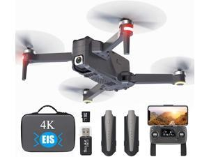 GPS Drone with 4K EIS Camera for Adults Beginner, 5G Professional Drone WiFi FPV Transmission with Brushless Motor, Foldable 60 mins Flight Time, 4000 ft Long Range Quadcopter with Gimbal Camera