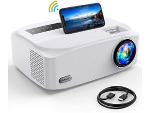 """GROVIEW BL89 5G WIFi Projector, 8500L Full HD Native 1080P Projector Synchronize Smartphone Screen, Max 300"""" Display, 4K Video Support, Compatible with TV Stick/HDMI/PS4/DVD Player/AV"""