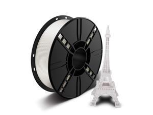 3D printer filament 1.75 mm PLA, dimensional accuracy +/- 0.02 mm, 1 kg White