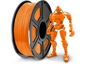 3D printer filament 1.75 mm PLA, dimensional accuracy +/- 0.02 mm, 1 kg Orange