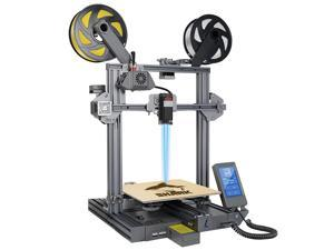 LOTMAXX Shark 3D Printer, 2021 Upgrade FDM 3D Printer with Dual Extruder, Laser Engraving & Dual-Color Printing 2 in 1, 95% Pre-assembled Metal 3D Printer Machine, Print Size 235x235x265mm(Space Gray)