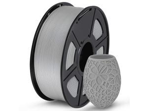 PLA 3D Printer Filament 1.75mm gray, Dimensional Accuracy +/- 0.02 mm, 1 Kg Spool, Pack of 1