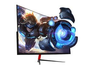 "Mfantasy 27"" 165Hz Curved Gaming Monitors Full HD 1920*1080 VA 1ms AMD Freesync Low-blue Light Eye Care Display Premium HDMI+DP+USB+Audio ,(D270X black)"
