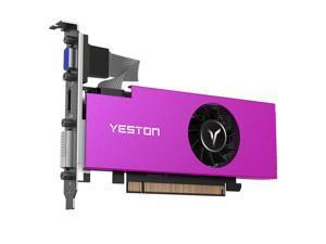 Yeston AMD Video Card Radeon RX550 4G D5 LP Gaming Graphics Card GPU, 4G/128bit/GDDR5 PCI-Express 3.0x8 DirectX 12,DVI+HDMI+VGA Desktop Graphics Card (HTPC ITX is compatible)