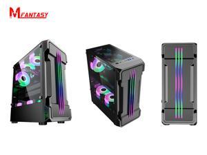 Gaming PC Computer Case ,ATX Mid Tower Desktop PC case,USB 3.0 (Fans are not included)(black)