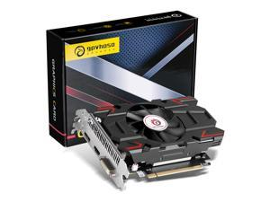 GPVHOSO AMD Radeon RX 550 Graphics Card, 1183MHz, 4GB 128-Bit GDDR5 PCI Express 3.0 x 8, DP/HDMI/DVI-D Tri-ports, 4K Output, DirectX 12, OpenGL 4.5, Computer GPU, Desktop Gaming Video Card