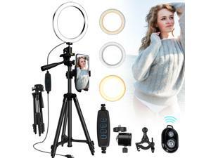 LED Ring Light Light Stand Kit Dimmable Photo Studio Selfie Phone Live Camera