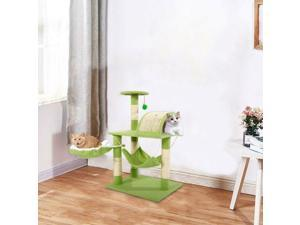 """32"""" Cat Tree Tower Condo Furniture Scratch Post Kitty Pet House Play Green"""