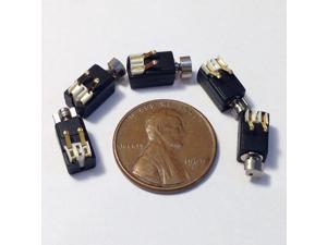 3V Cellphone DC Vibron Micro Mini Motor 8mm x 4mm Replacement 2-pin 5 Pcs