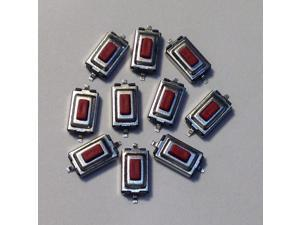 10 Pieces 3x6x2.5mm SMD Red Micro Tactile Push Momentary Buttons Tact Switch
