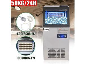 Stainless Steel Commercial Built-In Ice Maker 110LB 50KG Bar Restaurant Freezer