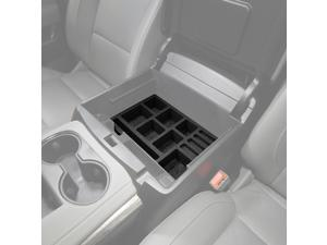 Fits Chevy Tahoe 15-19 Center Console Black Organizer Insert 3pc Full Console