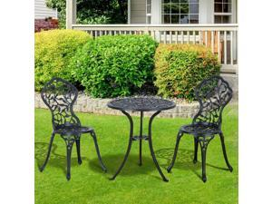 Clearance Sale Outdoor Po Bistro Dining Set 3 PCS Two Chair Furniture Pool