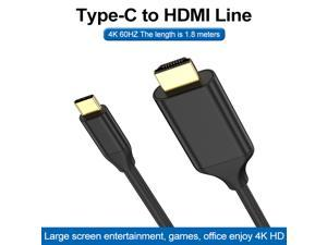 USB C to HDMI Cable for Home Office, 6ft Type C to HDMI Adapter Supports 4K 60Hz, for MacBook Pro, MacBook Air, iPad Pro, Surface Book 2, Galaxy S20, and More