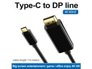 Type C to DP line, USB C to HDMI Cable 4K@60Hz HDM Cable 4K USB Type C to HDM Cable 6 Ft 1.8M HDM Adapter Cable Compatible with All Devices of USB Type C HDM