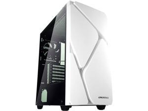 Enermax MarbleShell MS30 ARGB - ATX Mid Tower PC Gaming Case with Triple ARGB Fans (4 Pre-Installed Fans) and Tempered Glass Side Panel - White