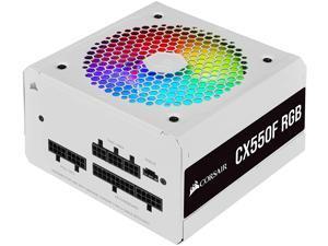 Corsair CX550F RGB, 550 Watt, 80 Plus Bronze, Fully Modular RGB White Power Supply