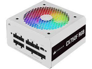 Corsair CX750F RGB, 750 Watt, 80 Plus Bronze, Fully Modular RGB White Power Supply