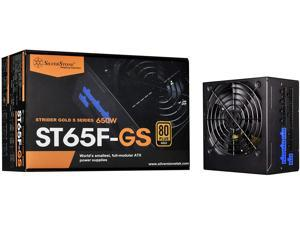 SilverStone Technology 650W Computer Power Supply PSU Fully Modular with 80 Plus Gold & 140mm Design Power Supply (SST-ST65F-GS)