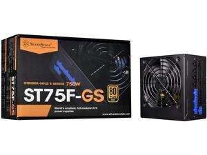SilverStone Technology 750W Computer Power Supply PSU Fully Modular with 80 Plus Gold & 140mm Design Power Supply (SST-ST75F-GS-V3)