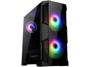 ATX Mid-Tower Gaming PC Case, with 2Pre-Installed 200mm RGB Fans and 120mm RGB Fan, Two Side Tempered Glass, 2 USB 3.0 I/O Port, Magnet Dust Filter, ABKONCORE H500G with Wireless Remote FAN Controller