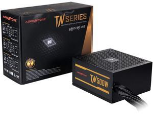 ABKONCORE TN500W Bronze PC Power Supply 500W, 80+ Bronze Certified, 12V Single Rail, Silent 135mm Quiet Cooling Fan, ECO Friendly, Active PFC, 7 Years Assurance PSU for Gaming and Other Applications