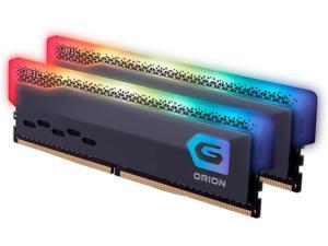GeIL Orion RGB DDR4 RAM, 16GB (8GBx2) 3600MHz 1.35V XMP2.0, Intel/AMD Compatible, Long DIMM High Speed Desktop Memory, Hardcore Immersive Gaming/Multimedia Content Creation/Quality Live Streaming