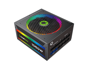 Power Supply RGB-1050-Rainbow Fully Modular 80PLUS Gold Certified with Addressable RGB Light Power Supplies for Computer