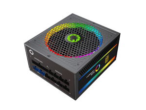 Computer Power Supplies 750W, RGB Power Supply Fully Modular 80+ Gold PSU, Addressable RGB Light Power Supply for Gaming PC