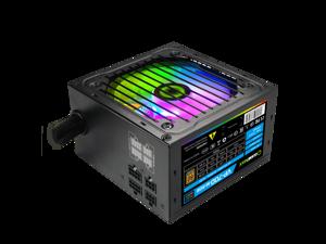 RGB Power Supply 700W Semi Modular 80+ Bronze, RGB Fan ATX Half Modular Power Supply