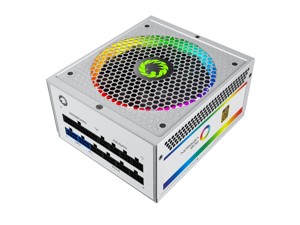 Power Supply RGB 850W Rainbow Fully Modular 80PLUS Gold Certified with Addressable RGB Light Power Supplies for Computer - White