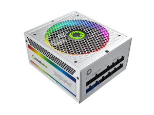 Computer Power Supplies 850W, RGB Power Supply Fully Modular 80+ Gold PSU, Addressable RGB Light Power Supply for Gaming PC - White