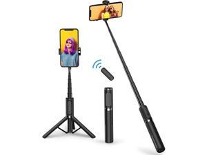 Selfie Stick Tripod, Mlay Extendable 3 in 1 Aluminum Bluetooth Selfie Stick with Wireless Remote and Tripod Stand 360° Rotation for iPhone 12/11/11 Pro/XS Max/XS/XR/X/8/7, Samsung and Smartphone